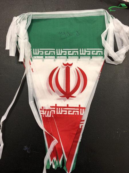 تصویر پرچم ایران ریسه ای سه گوش 5-695