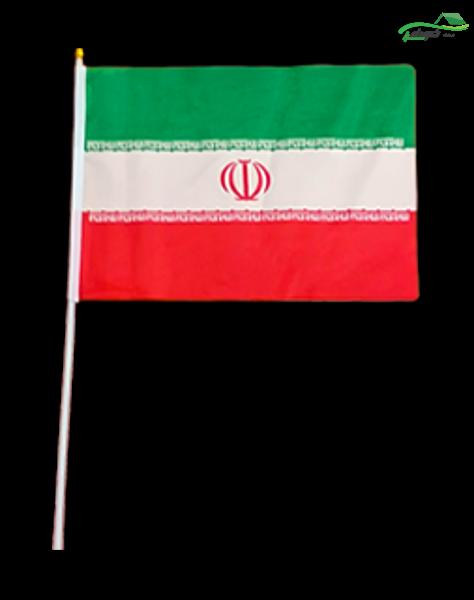 تصویر پرچم ایران میله دار سایز کوچک 3-695