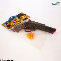 تصویر تفنگ هفت تیر تیرپران سلفونی