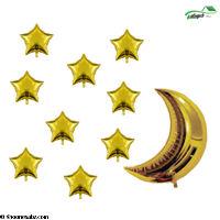 تصویر بادکنک فویلی ست ماه وستاره 10-1025