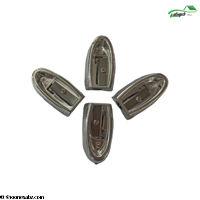 تصویر تراش طرح فلز نقره ای 50 تایی