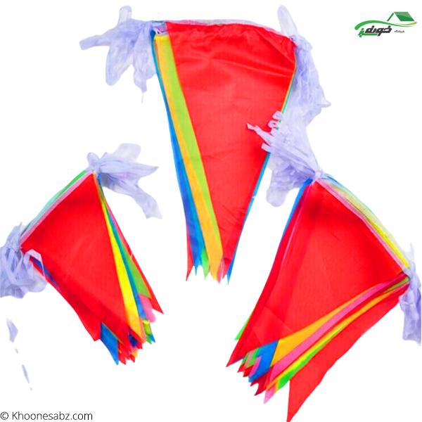 تصویر پرچم ریسه ای رنگی 6.5 متری11-695