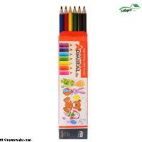 تصویر مداد رنگی 6 تایی مقوایی ادمیرال
