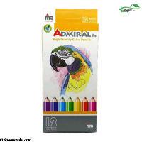تصویر مداد رنگی 12رنگ ادمیرال(mdf)